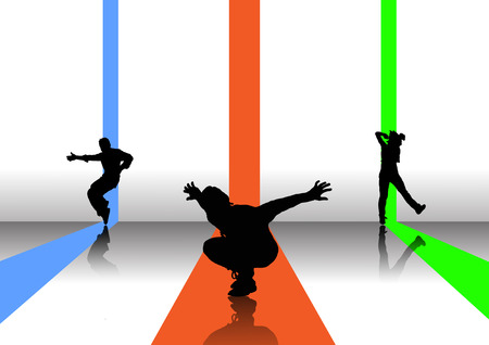 danseuse arrière-plan  Illustration
