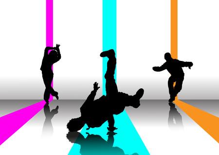 Pause danseur arrière-plan Illustration