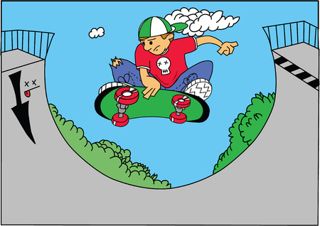 illustration of a skate boarder Vector