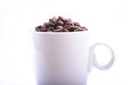 cup of coffee against a white background Stock Photo