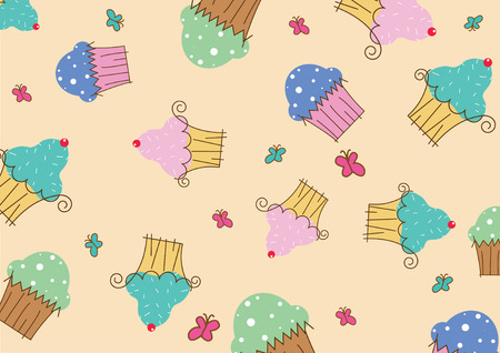 a big jumble of caked for a background.