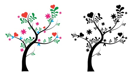 a lovely blooming tree Vector