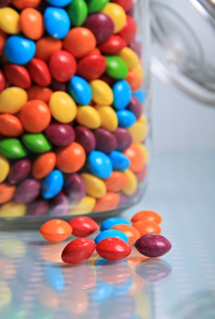 image of some tiny sweets that have been left out of the sweet jar.