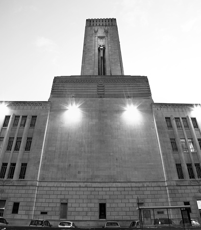 wide angle shot in black and white of the mersey tunnel building in liverpool.no property release required. Stock Photo - 10594322