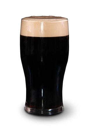 guinness beer: A pint of irish stout for St. patrick day on a white background Stock Photo
