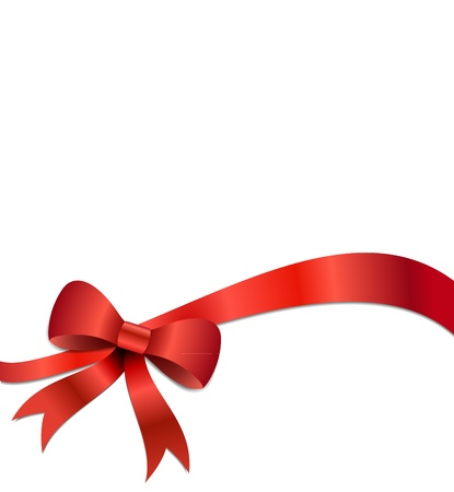 Big red Christmas bow illustration with gradients and opacity, Eps version 8. Illustration