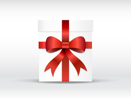 Christmas gift with bow illustration with gradients and opacity Vector
