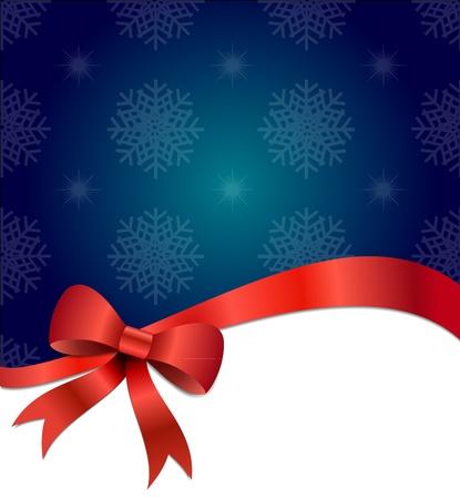 Big rouge de Noël de fond illustration arc avec des gradients et l'opacité