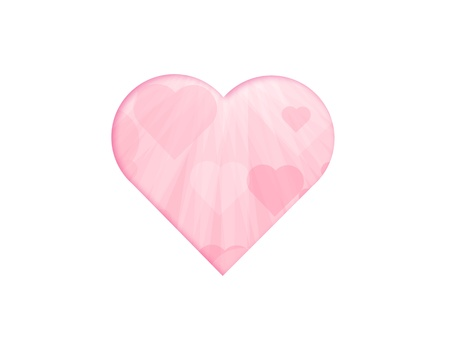 a pink heart shaped image filled with other pink hearts Stock Photo