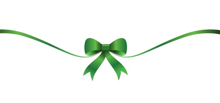 St Patricks green bow and ribbon illustration for the irish celebration  Illustration Eps CS  Stock Vector - 12813342