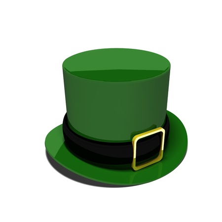 a Leprechauns hat against a white background for St Patricks day  photo