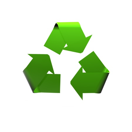 recycled logo isolated on to a white background Stock Photo - 12813357