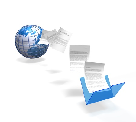 fichiers étant le transfert d'un dossier et téléchargées sur l'internet Banque d'images