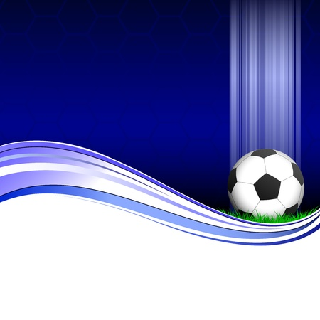 Illustration of a soccer poster with a football on it Illustration