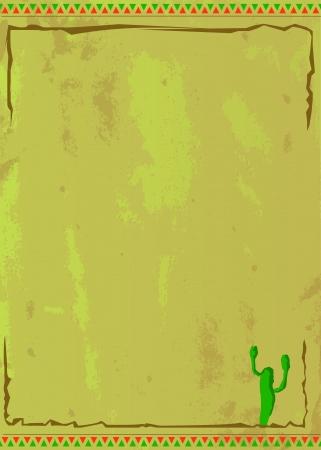 Illustration d'une conception de l'affiche mexicain pour Eps utilisations version 10 de nombreux