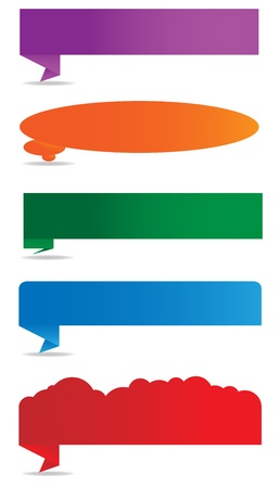 4 different shaped text boxes illustrations  complete with shadows against a white background Stock Vector - 13766303