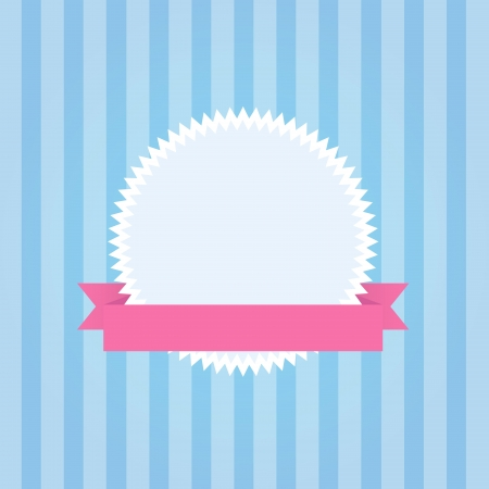 An illustration of pastel coloured badge with stripes Stock Vector - 14307681