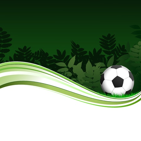 Illustration of a soccer poster with a football on it Vector