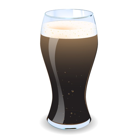 traditionally irish: A illustration of a pint of alcohol with froth and bubbles