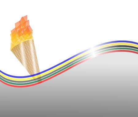 une affiche illustrative avec les cinq couleurs et un toruch