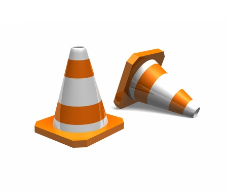 orange traffic cones  photo
