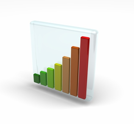 bar charts in different colours that indicate the energy efficiency grades  Stock Photo - 16967637