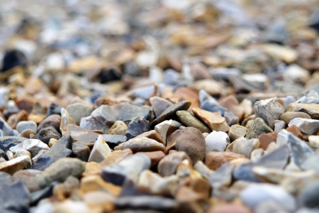 a shot of different coloured gravel with high depth of field