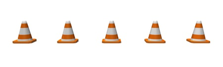 construction traffic cones lined up in a row Stock Photo - 16967579