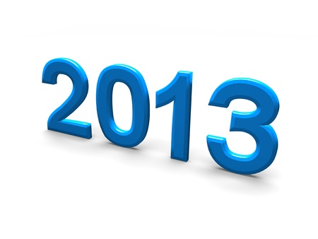 2013 in blue writing against a white background  Stock Photo - 17289515