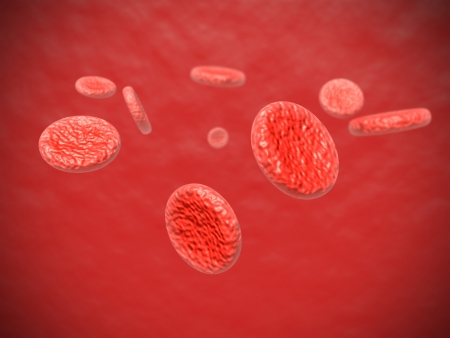 Image of some red blood cells floating around inside an artery Stock Photo - 20634050
