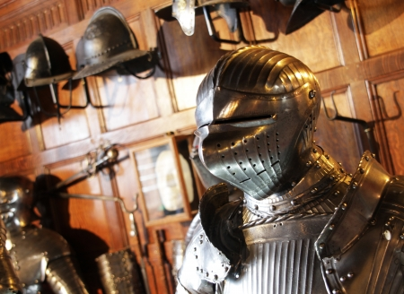 Kings suit of Armour in a castle museum,