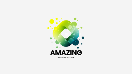 Creative abstract vector logo for corporate identity isolated on white. Premium quality logotype emblem illustration. Beautiful design Logó
