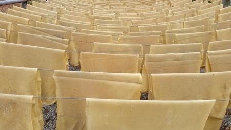 caoutchouc: raw sheet rubber  Stock Photo