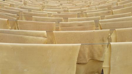 rubber sheet: raw sheet rubber  Stock Photo