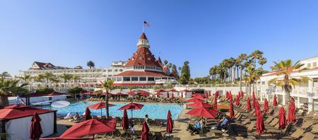 Historical Hotel del Coronado at San Diego Editorial