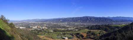 burbank: Burbank from top, morning with blue sky Stock Photo