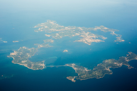 Flying through Penghu, Taiwan 스톡 콘텐츠