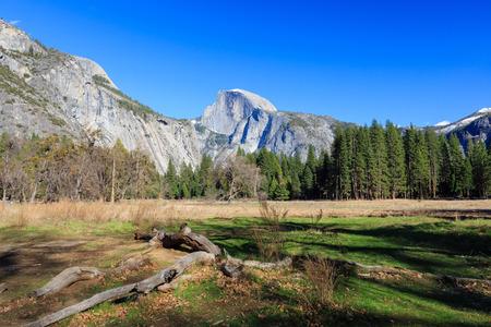 half dome: Beauty of Yosemite, Half dome and field