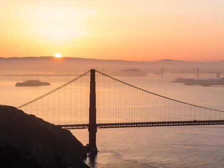 raise: Golden Gate Bridge, SFO, Sun raise