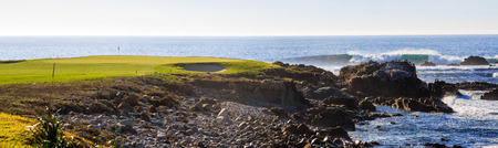 mile: Beautiful 17 mile coastline Stock Photo