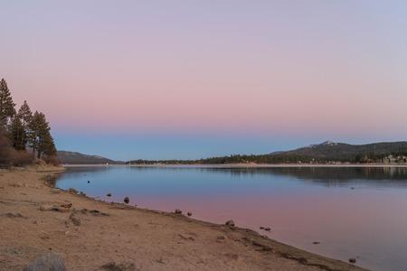 bear lake: Big bear lake at sunset time
