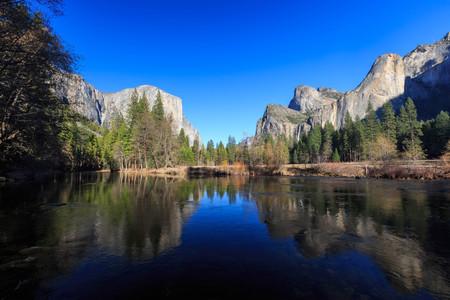 valley view: Valley View at Yosemite National Park, California, USA