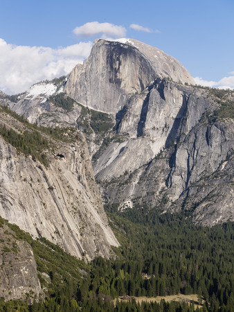 half dome: Yosemite nature scene - Half Dome, daytime Stock Photo
