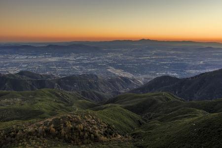 bernardino: Sight seeing over San Bernardino at sunset time Stock Photo