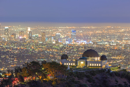 hollywood hills: Los Angeles Night Cityscape, Griffin Observatory