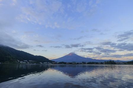 kawaguchi: The famous Mt. Fuji at Kawaguchi, Japan around morning time