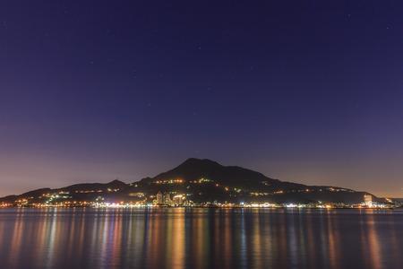 nightscene: Classical tamsui nightscene in New Taipei City, Taiwan