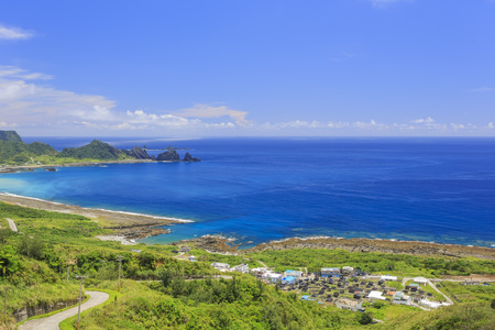 Beautiful nature landscapes at Orchid Island, Taitung, Taiwan Stock Photo