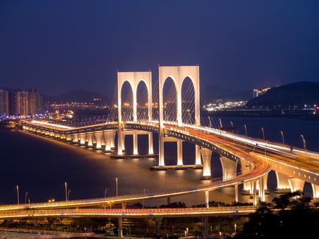 Sai Van Bridge is a cable-stayed bridge in Macau, China