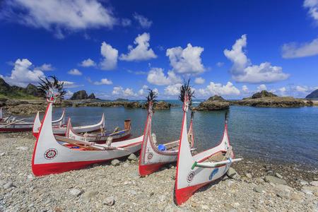 Beautiful carving boat at Orchid Island, Taitung, Taiwan